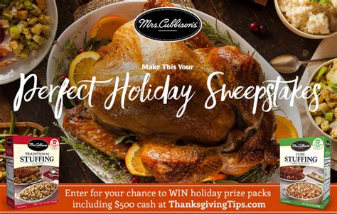 Mrs Cubbison S Sweepstakes - mrs cubbison s perfect holiday sweepstakes