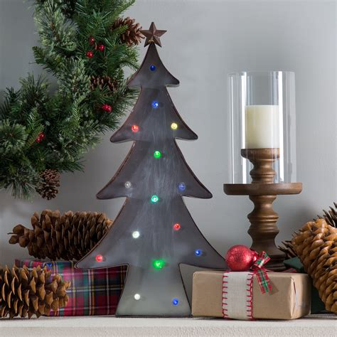 12 days of christmas metal yard art 24 4 in metal tree with color changing lights home decor at hayneedle