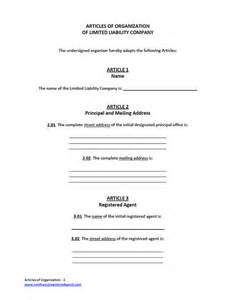 Llc Articles Of Organization Template by Llc Articles Of Organization Free Llc Form For Filing