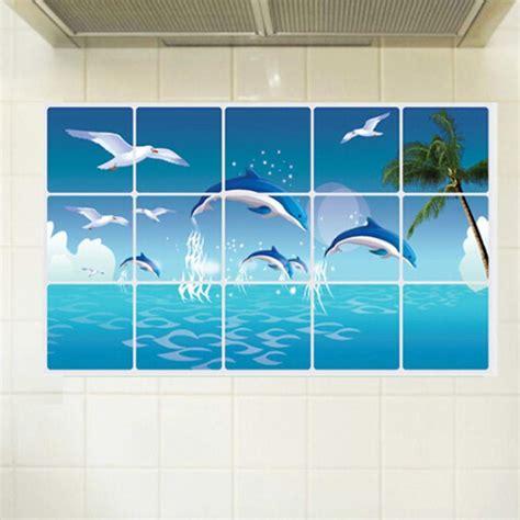 waterproof bathroom tile stickers dolphin kitchen bathroom waterproof sticker tile for wall