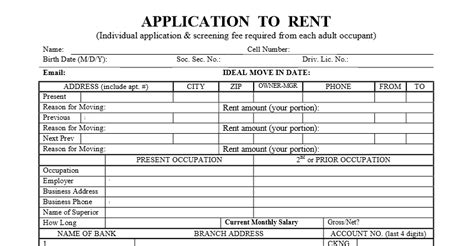 Credit Hire Agreement Template Standard Los Angeles Application To Rent The Rental The Rental