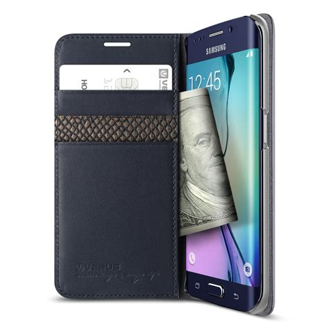 Verus Genuine Leather Diary For Galaxy Note Fe Note 7 Navy verus genuine leather diary for samsung galaxy note 5