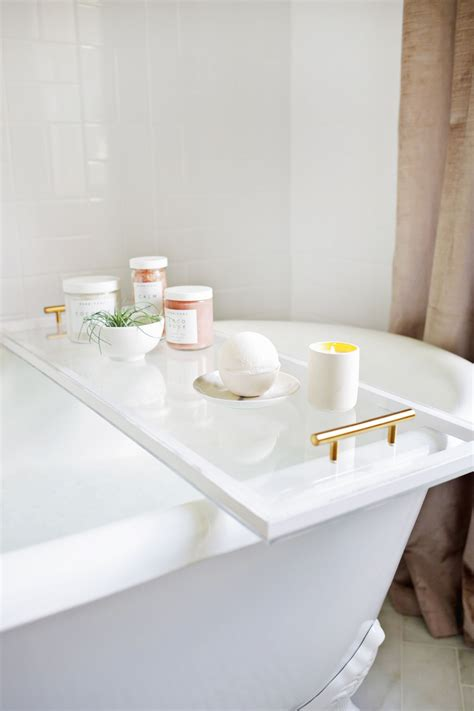 bathroom caddy ideas diy lucite bathtub caddy diy things
