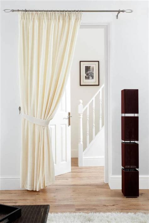 lined door panel curtains deep pile velvet door curtain pencil pleat fully lined