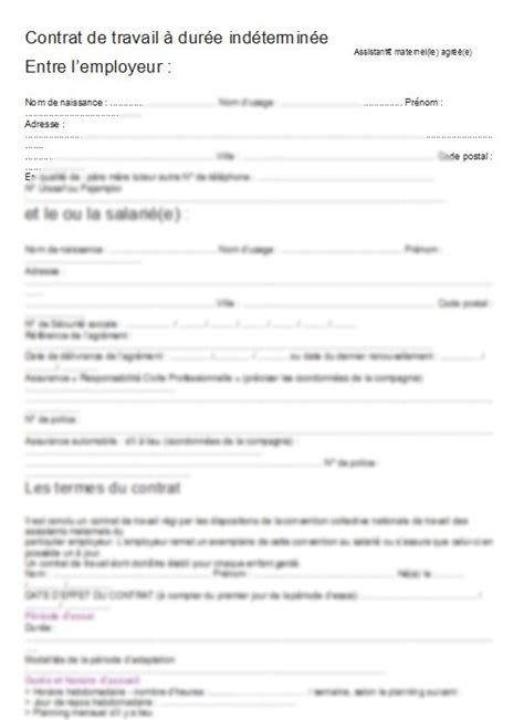 exemple contrat de travail pdf document