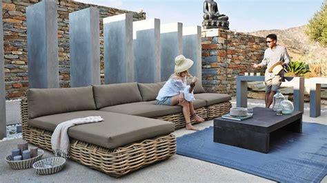 salon de veranda 868 du mobilier en rotin 224 installer dans le jardin comme au