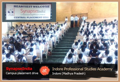 Ips Indore Mba Placement by Synapseindia Career Opportunities Shamit Khemka