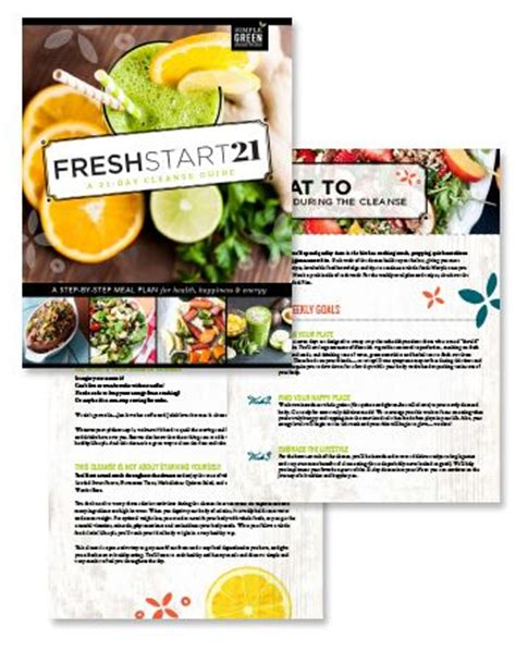 How Do I Go About Opening A Detox Facilaty by Fresh Start A 21 Day Cleanse Cleanse Fresh