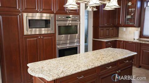 Santa Cecilia Granite Kitchen with Cherry Wood Cabinets