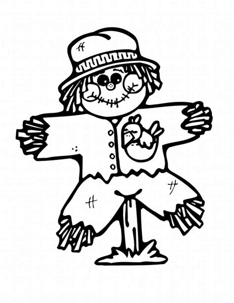 Coloring Pages Scarecrow Printable | free printable scarecrow coloring pages for kids