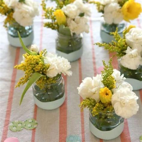 floreros con frascos de vidrio floreros con envases de compotas аранжировка мини