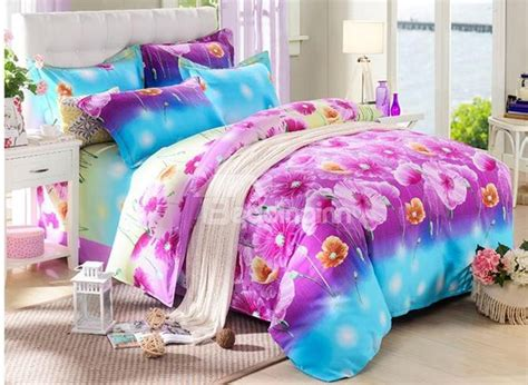 bright pink comforter bright pink floral reactive printing 4 piece cotton duvet