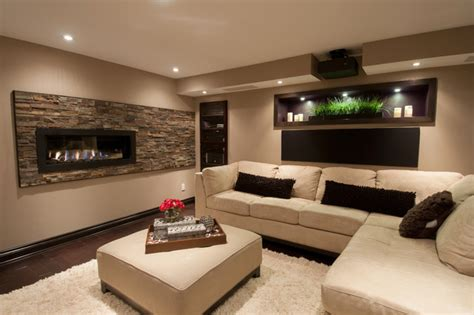 room design builder basement family room contemporary basement ottawa