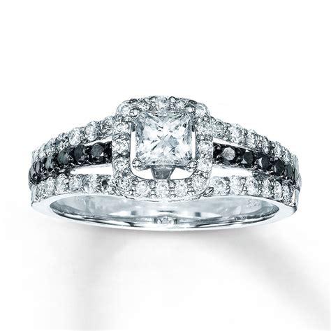 engagement ring 7 8 ct tw princess cut 14k