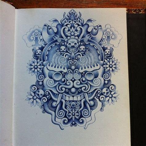 tattoo with bic pen bic ballpoint pen illustration by erik de haan