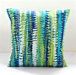 Bedroom Color Palette - decorative pillow cover blue green white abstract stripes cushion cover 18 inch on etsy 32