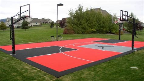 backyard sport court cost outdoor basketball court flooring cost gurus floor