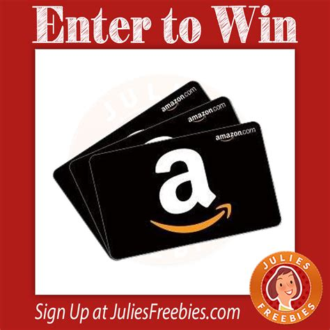 Can You Use Amazon Gift Cards At Whole Foods - win a 100 amazon gift card julie s freebies