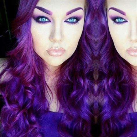 the violet hair makeover again with purple hair and turquoise eyes such a striking