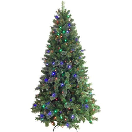artificial christmas trees at wal mart time pre lit 7 5 artificial tree color change walmart