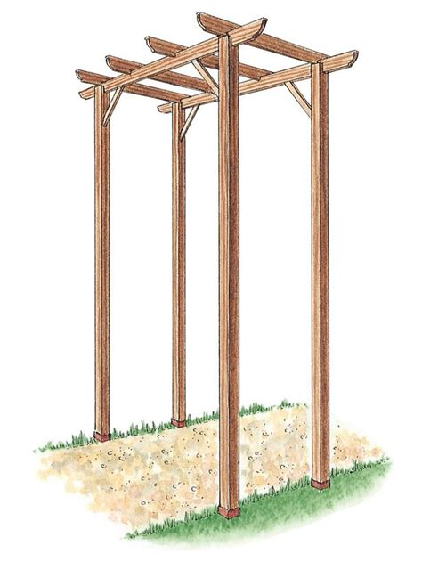 How To Build A Freestanding Wooden Pergola Kit Free How To Build A Free Standing Pergola