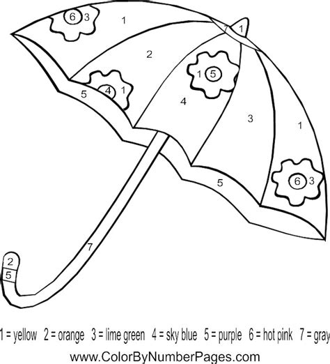 coloring pages for umbrella letter u umbrella color by number page preschool letter