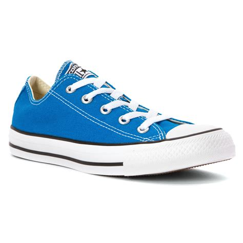 Converse All Low lyst converse chuck all low top in blue