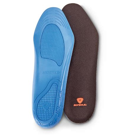 sof comfort custom memory insole sof sole men s memory insoles 657229 boot shoe