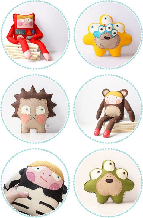 Designer Home Decor Accessories whimsical handmade softies dolls toys and monsters by s