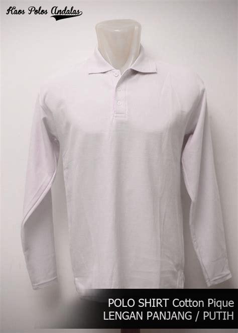 Polo Panjang Putih Polos Kaos Polo Shirt Panjang Polos Murah kaos polos kerah polo shirt polos lengan panjang grosir