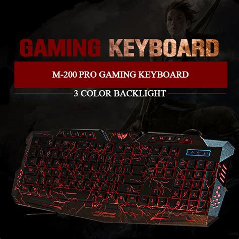 M 200 Usb Wired Gaming Keyboard by Usb Wired Gaming Keyboard With Led Backlight M 200