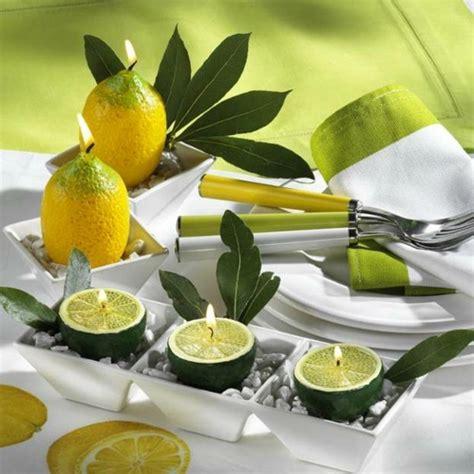 kerzen dekoration banane und zitrone die perfekte dekoration archzine net