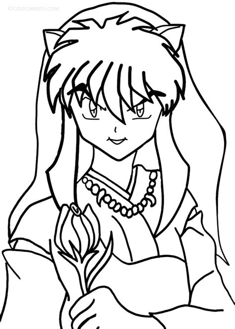 Printable Inuyasha Coloring Pages For Kids Cool2bkids Inuyasha Coloring Pages
