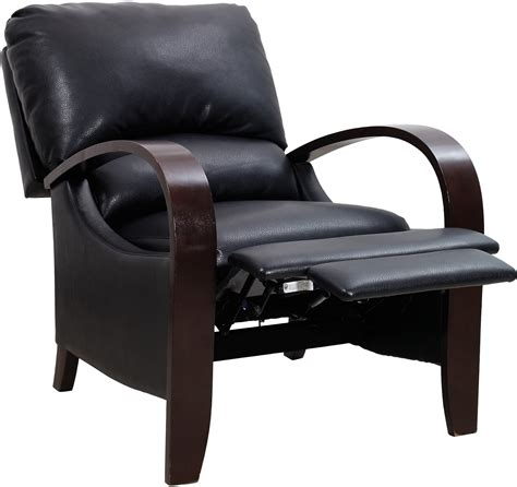 reclining accent chair aaron black reclining accent chair united furniture