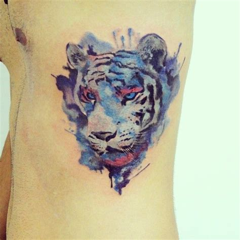 tiger tattoo finished whatercolor tattoo tatoos