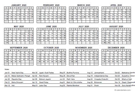 yearly calendar  india holidays  printable templates