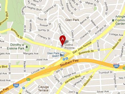 san francisco map glen park la corneta taqueria locations mexican restaurant food