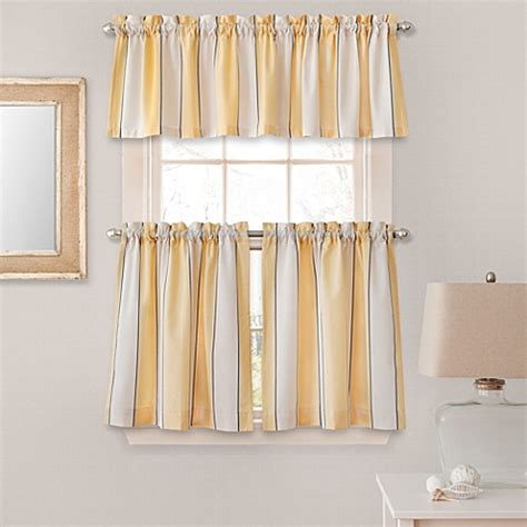 yellow stripe curtains buy lauren stripe window curtain valance in yellow from