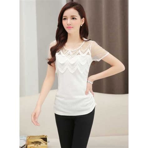 korean blouse blouse with