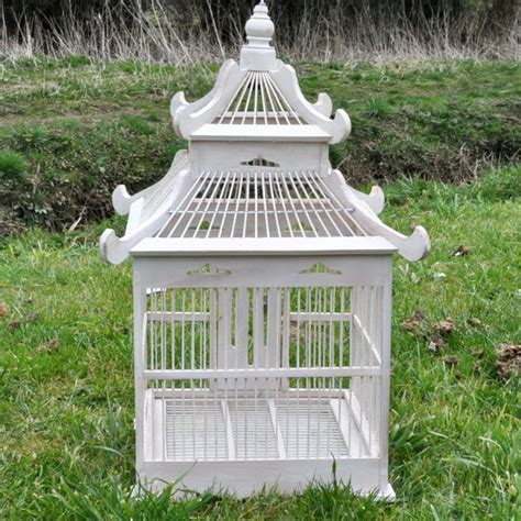 painted ornamental wooden bird cage acacia trading