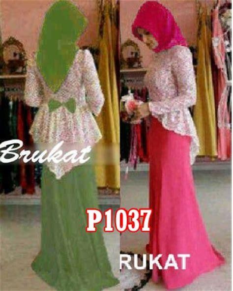 Gamis Pesta Warna Pink Fanta gamis pesta dina brokat p1037 model baju muslim modern