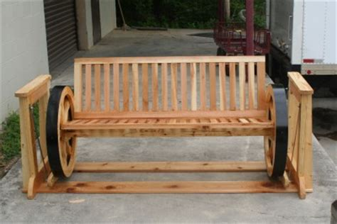 wagon wheel porch swing custom made wood wagon wheel glider bench porch swing ebay