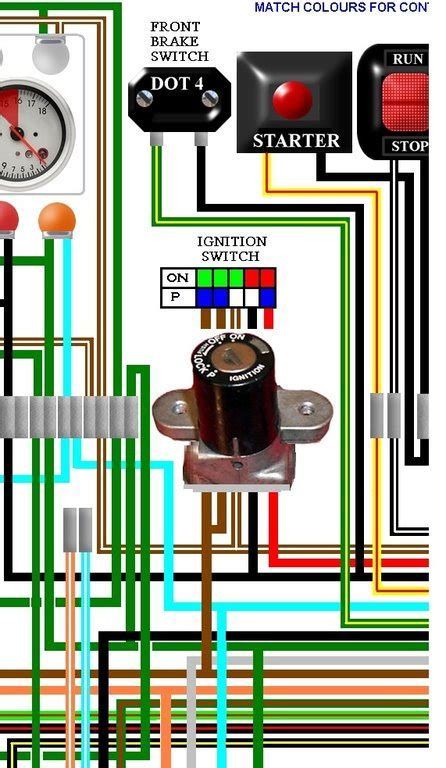 honda cb cbf  uk spec colour wiring loom diagram