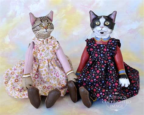 Cat Doll by Meredith Original One Of A Tabby Cat Doll By Max