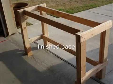 how to make a wooden work bench how to build a wooden workbench youtube