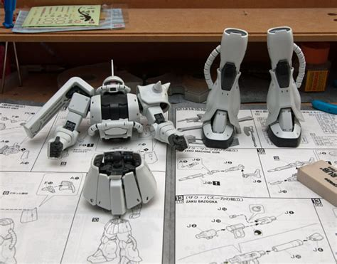 Master Grade Zaku White Ogre slowly but surely the white ogre is a wip mostly harmless