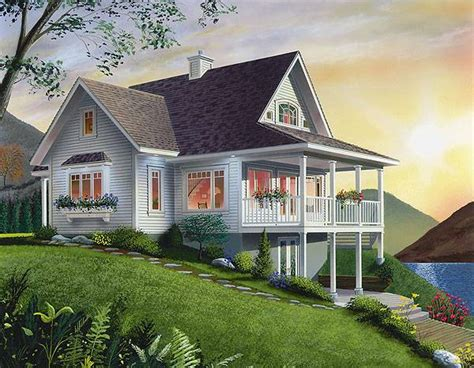 panoramic view house plans waterfront cottage with panoramic views throughout the main floor professional builder house plans