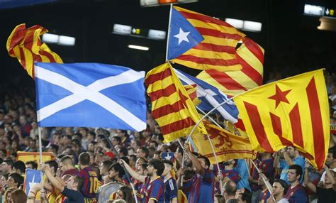 barcelona independence scottish independence catalonia pledges allegiance at
