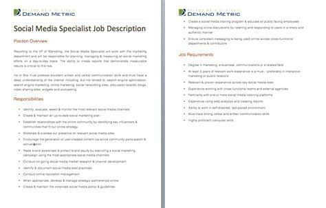 Network Specialist Description by Social Media Description And Templates On