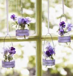 Easter decorations in purple and lavender easter crafts diy